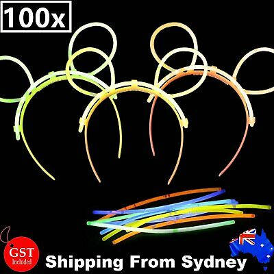 15X Multi Color glow sticks headbands tiaras Light party revel glow in the dark