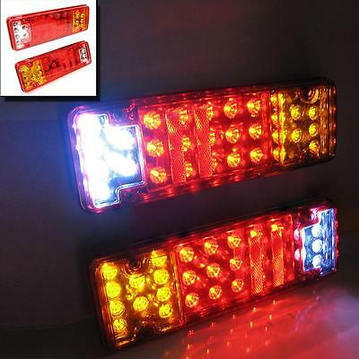Led Rear Tail Lights Truck Lorry Chassis For Iveco Daf Scania Volvo Mercedes 24v