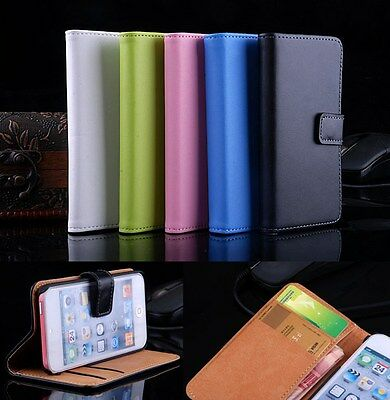 Luxury Genuine Leather Flip Stand Wallet Case Cover Magnetic For iPod Touch 5