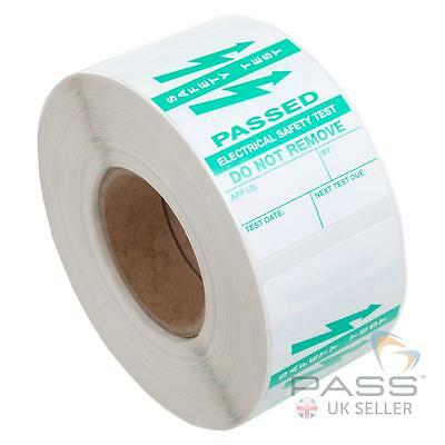 500 x PAT Testing Vinyl Appliance Cable Wrap Labels - Passed