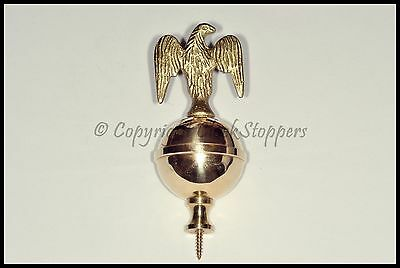Quality Brass Eagle Finial Clock Grandfather Longcase Ornament Decoration Ball