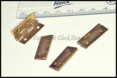 "1"" Brass Door Hinges Clock Jewellery Box Furniture Cabinet Dolls House Small"