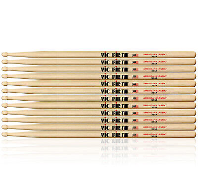6 Pairs of Vic Firth American Classic Extreme 55A Wood Tip Drumsticks *NEW* X55A