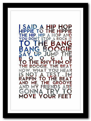THE SUGARHILL GANG - Rapper's Delight  - poster old skool art print - 4 sizes