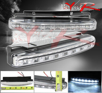 NEW 2X 8 LED 6000K WHITE CAR DRIVING FOG LAMP 12V DRL DAYTIME RUNNING LIGHT