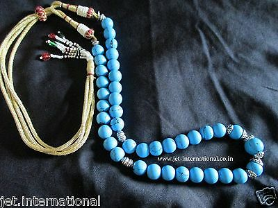Turquoise Beautiful Necklace Fashion A++ Jewelry Gemstone Round Beads Authentic