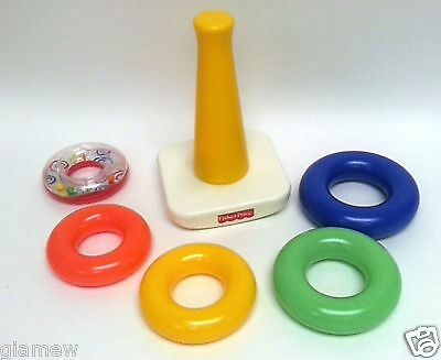 New Fisher Price Brilliant Basics Rock-A-Stack Colorful Ring Development Toy