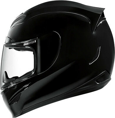 *SHIPS SAME DAY* ICON Airmada Gloss (Black) FULL FACE Motorcycle Helmet