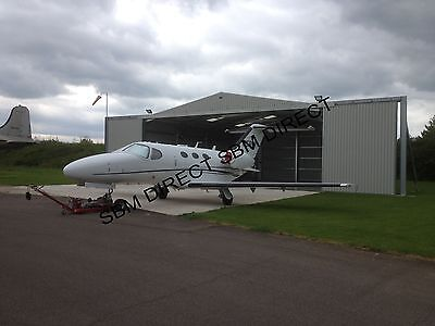 LIGHT AIRCRAFT HANGER by Steel Build Masters Ltd (12m W x 18m L x 4.5m H)