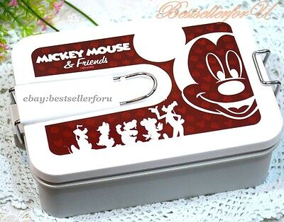 Authentic Mickey Mouse Lunch Box Bento Food Container Airtight Microwave OK