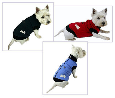 Dog Jacket Coat Sweatshirt Fleece Lined Sports Theme Sweater Windproof Warm Zip