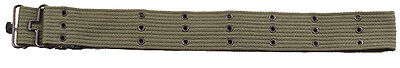 US Military Army USMC Metal Olive Drab Metal Buckle Canvas Pistol Gun Belt 42""