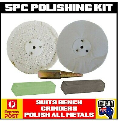 Bench Grinder Polishing Buffing Wheels Kit All Metals - Polish Like The Pro's