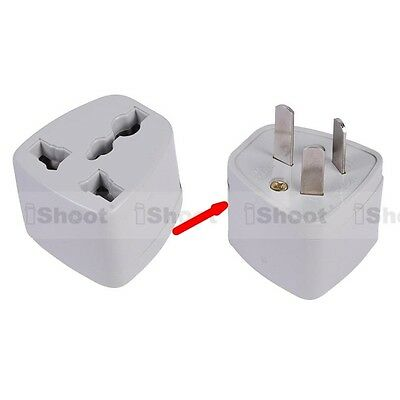 US UK EU Europe to AU Australia NZ CN AC Power Plug Adapter Travel Converter