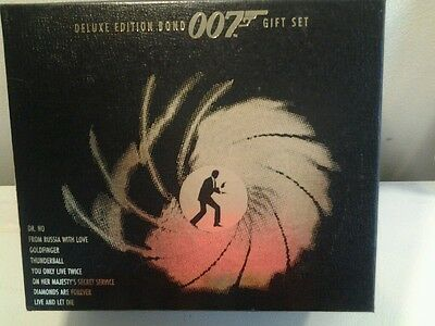 Deluxe Edition James Bond 007 Gift Set 8 VHS Tapes