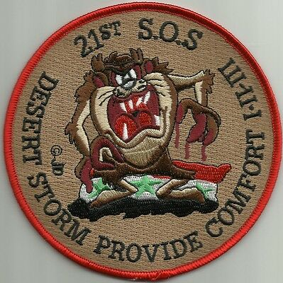USAF 21st SPECIAL OPERATIONS SQUADRON DESERT STORM MILITARY PATCH - TAZ 21st SOS