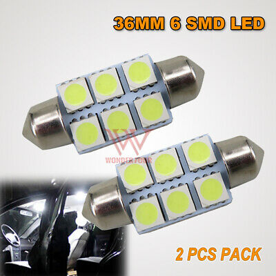2Pcs 31Mm Cob White Led Canbus Work Bulb Globe Light Lamp Dc12V Super Bright T10