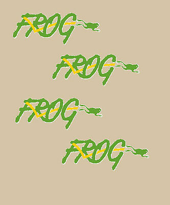 Renault 4 Frog Serie Adesivi Stickers