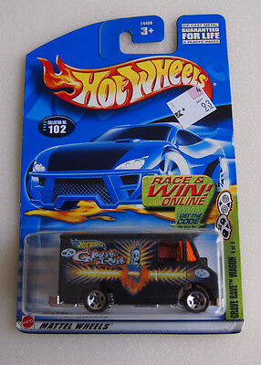 HOT WHEELS 2002 ISSUE GRAVE RAVE #102 4/4 DELIVERY TRUCK