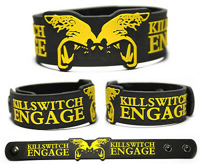 KILLSWITCH ENGAGE Rubber Bracelet Wristband Disarm the Descent As Daylight Dies