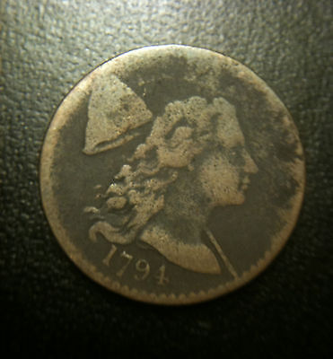 1794 Head of 1794 Flowing Hair Liberty Cap Large Cent VF/XF Very Fine Nice Color