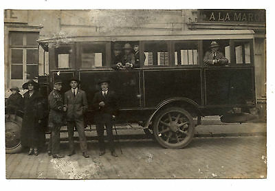 Photo.carte Postale.autobus Ancien.voiture Transport.car.automobile