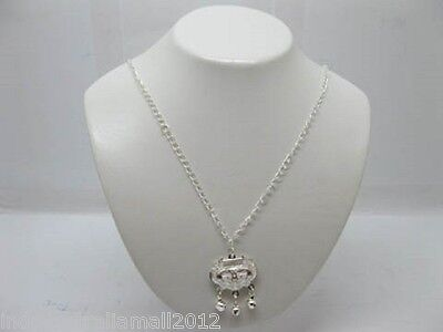 Chinese SilverPlated Baby Auspicious LOCK Amulet Pendant with Necklace(M-CH85)