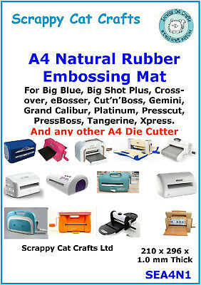 A4 Rubber Embossing Mat for Grand Calibur & Other Die Cutting Machines SBGC-006