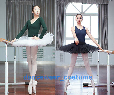 New Adult Professional Ballet Tutu Hard Organdy Platter Skirt Dance Dress 2Color
