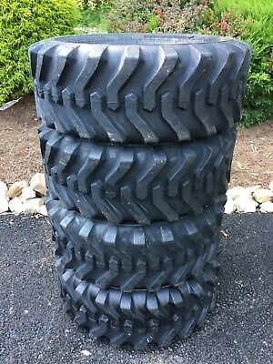 4 NEW 10-16.5 Skid Steer Tires 12 PLY- 10X16.5-For Bobcat, CAT,John Deere & more