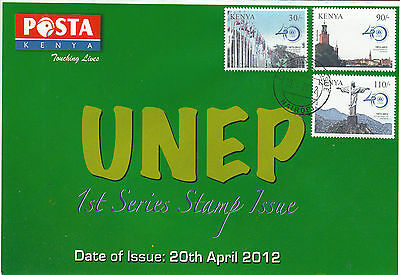 Kenya 2012 FDC UNEP 40th Anniv 3v Set Cover United Nations Environment Programme
