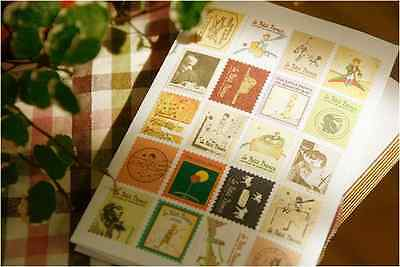 Little Prince, Alice in wonderland, OZ, Paris, London, Italy, 80 stamp stickers