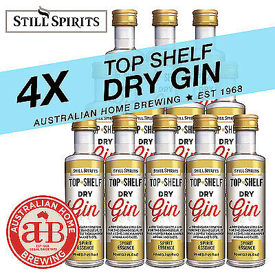 4x Still Spirits Top Shelf Dry Gin English homebrew spirit essence distilling