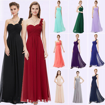 Ever Pretty Flower One Shoulder Long Bridesmaids Dresses Evening Party 08237