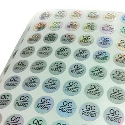 480 Stickers (5 Sheets 96 Each) QC PASSED Labels 10mm Diameter