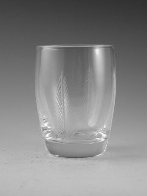 "STUART Crystal - WOODCHESTER Cut - Juice Tumbler Glass / Glasses - 3 1/4"" (1st)"