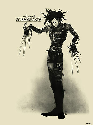 Edward Scissorhands Movie Poster Art Print (MSP 043)