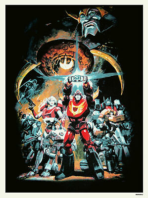 Transformers Vintage Movie film Poster Art Print (MSP 002)