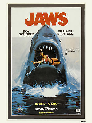 Jaws Movie Film Poster Art Print (MSP007)