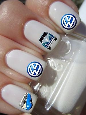 VW Camper van sticker autocollant ongles manucure nail art water decal déco