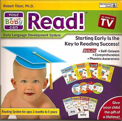 Your Baby Can Read! Volumes 1, 2, 3 & 4 Dvd's, Cards & Books - NEW