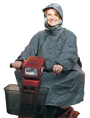 Waterproof Mobility Scooter Poncho Rain Cover With Hood