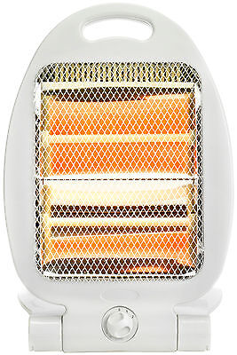 Status 800w Portable Quartz Heater With 2 Heat Settings Fold Out Stand