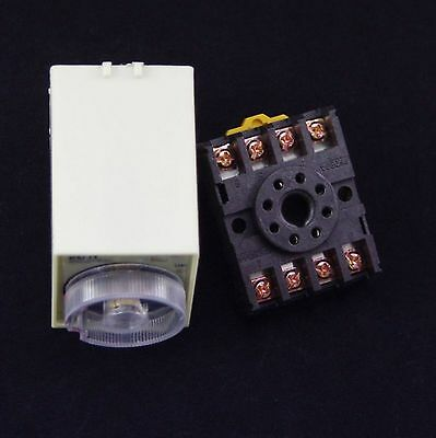 110V AC Power Off Delay Timer Time Relay 0-10 Second 10S ST3PF /& Base