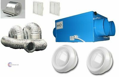 Heat Recovery Bathroom Fan Condensation ventilation complete 1 or 2 room