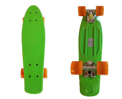 FISH Mini Cruiser Skateboard Banana board Old school 70s Retro-Green Deck