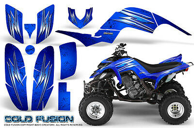 Yamaha Raptor 660 Graphics Kit Creatorx Decals Stickers Cold Fusion Blue