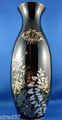 Nice VG - 'JAPANESE IMPERIAL BLACK PORCELAIN LARGE VASE' - In Australia~!