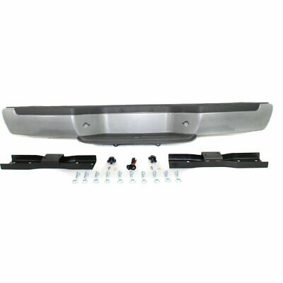 Step Bumper Assembly For 2001-2004 Nissan Frontier Fleetside Powdercoated Silver