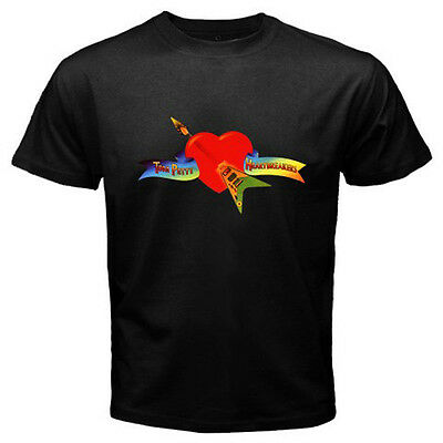 New Tom Petty and the Heartbreakers Rock Music Men's Black T-Shirt Size S to 3XL